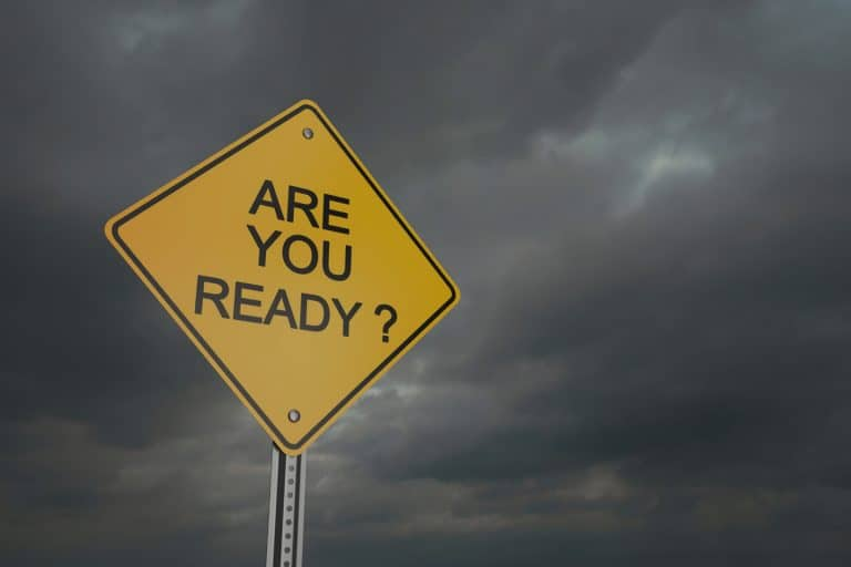 Are you ready? sign